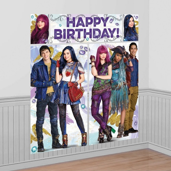 Descendants 2 Birthday Decorations